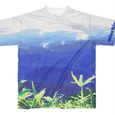 半袖Tシャツ  山頂 ブルー系14335925
