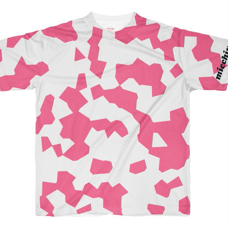 Tシャツ 半袖  まだら模様 ピンクホワイト  S~XL