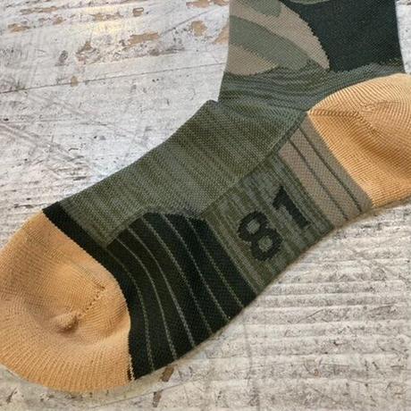 milestone『milestone original Socks』(フォレストグリーン)