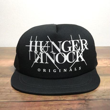 HUNGERKNOCK originals / Logo Mesh Cap-black