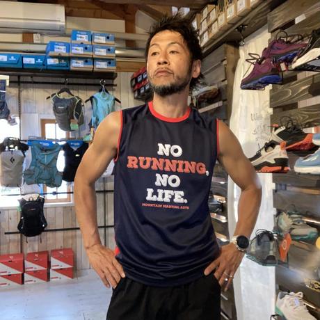 MMA『No Running No Life Trim Sleeve-less 』(Navy)