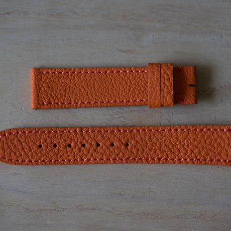 革ベルト シュリンクカーフ オレンジ 17-16mm