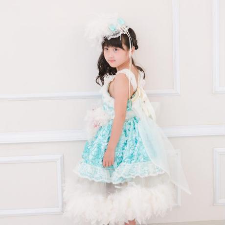 8119c91f43a34 レンタル)可愛いアクアミントのフェザードレス 「Otoha♡」 110 120 130 ...