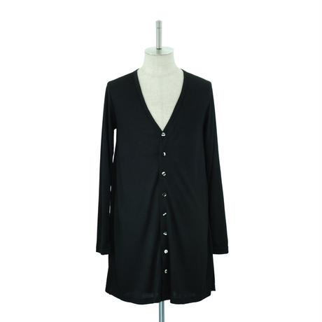 Marble Button Long Cardigan