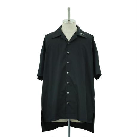 Eyelet Open Collar Shirt