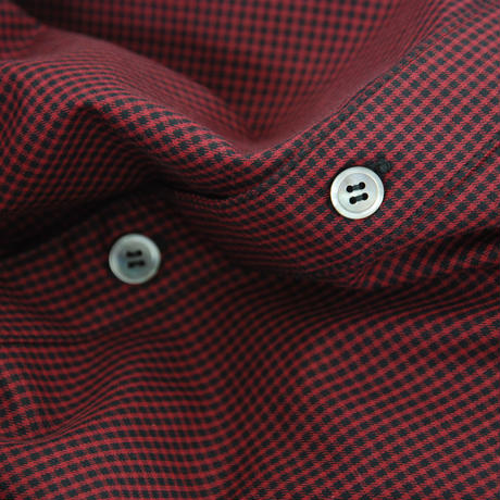 Gingham Check Ribbon Shirt