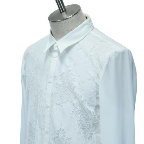 Lace Layered Long Shirt