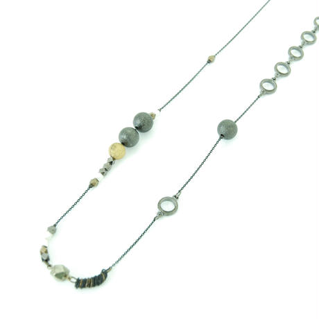 Material Mix Long Necklace