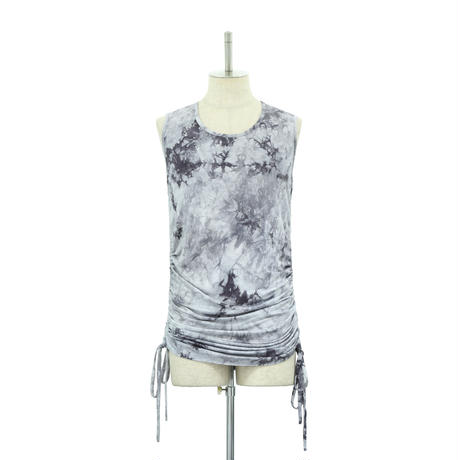 Tie Dye Shirring Tank Top