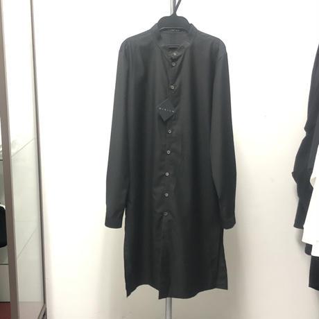 【Sample】刺繍バンドカラーロングシャツ