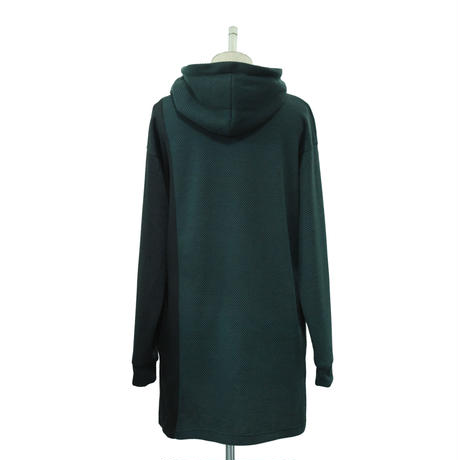 Seed Stitch Switching Hoodie