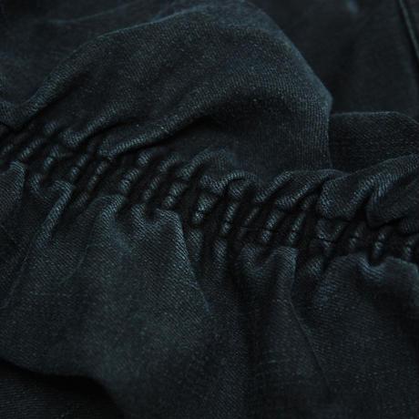 Washed Denim Shirring Skinny