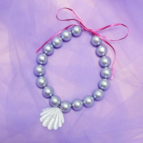 マーメイドパールネックレス(パープル)/ Mermaid Pearl Necklace(Purple)