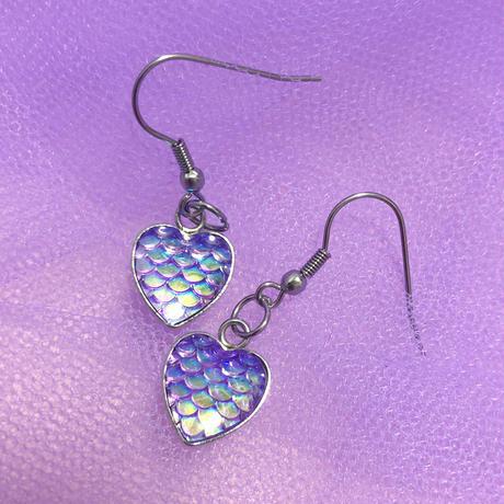マーメイドハートピアス/ Mermauis Heart Earrings