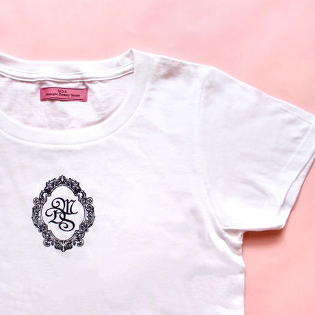 M.D.S T-shirt(White x Black)