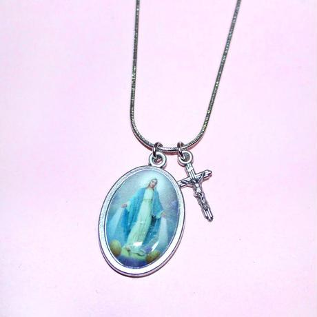 ブルーメダイネックレス/ Blue Medal Necklace