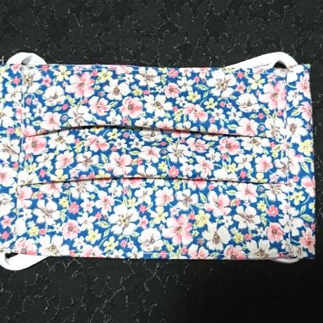 光触媒加工 布マスク(普通サイズ)  青花