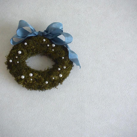 moss Oval ~Ribbon frame~
