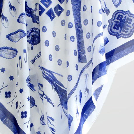 "MIFUNE Silk-Cotton SCARF, ""LAZULITE"""