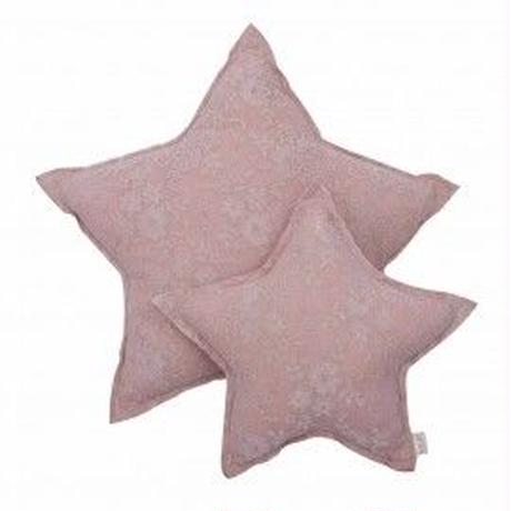numero74 Lace flower  star cushion  dustypink