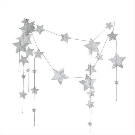 NUMERO74 falling star garland silver