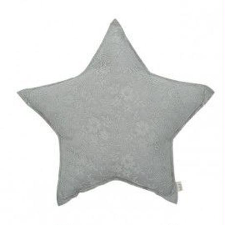Numero74 Star cushion  LaceFlower  Silvergrey