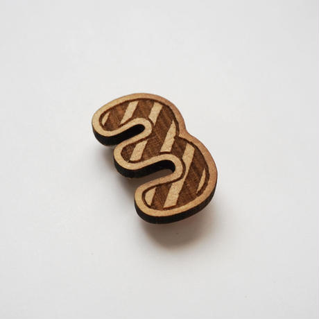 木製ブローチ【3・3・3】