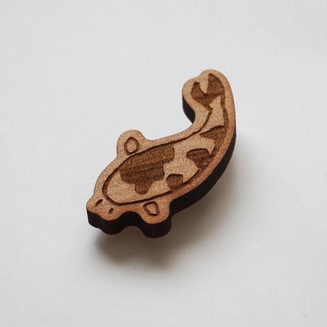 木製ブローチ【こいの町】