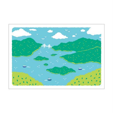 ポストカード【瀬戸内海の多島美】