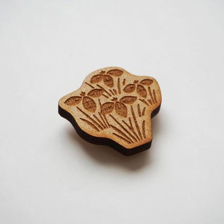 木製ブローチ【エヒメアヤメ】