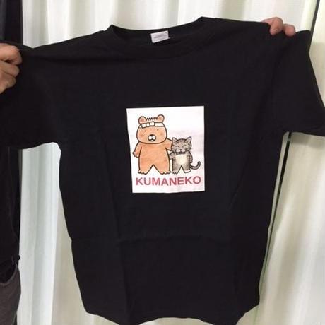 熊猫堂オリジナルTシャツ黒 (見本)