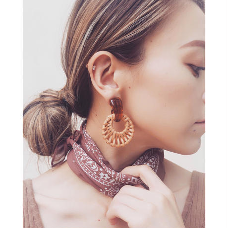 CIRCLE RATTAN EARRINGS