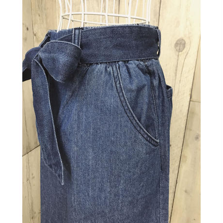 DENIM RIBBON WIDE PT