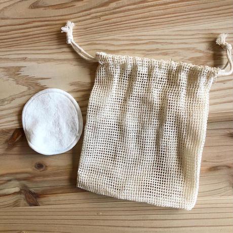 竹繊維パフ(10枚入り・メッシュバッグ付き)