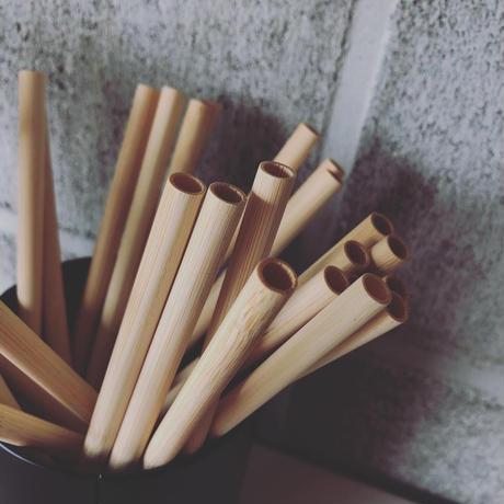 竹製ストロー(竹製ケース・洗浄用ブラシ付き)