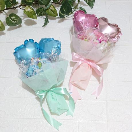 お花いっぱい♡ダブルバルーン!キャンディブーケ