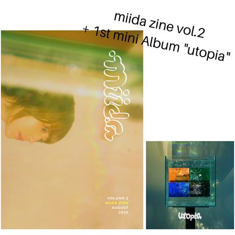 """miida zine vol.2 + 1st mini Album """"utopia"""""""