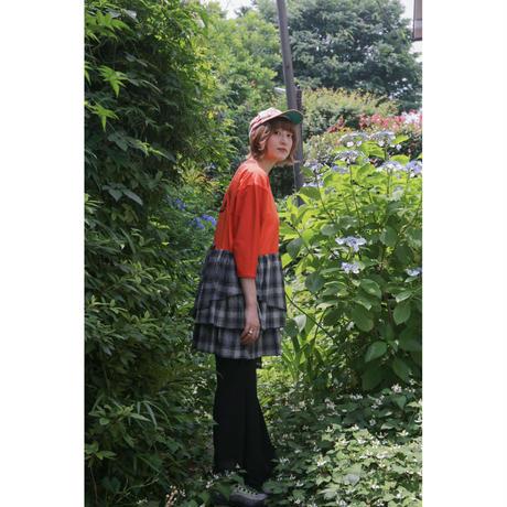 Remake T-shirt mini Dress(Black/Check)