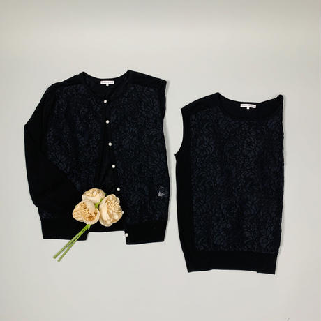 Race knit ensemble Black