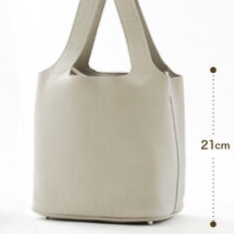 leather cube bag grege