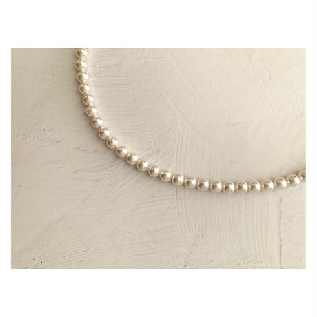 HAKUA  swarovski Pearl  6mm necklace