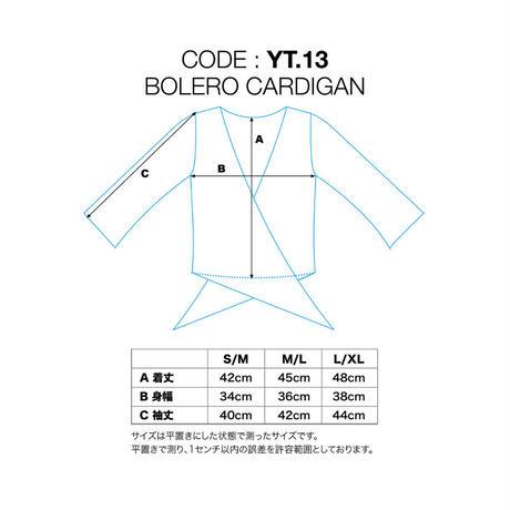ボレロカーディガン レーヨンスパンデックス薄手 セーブル [YT.13RL/L-SABLE]