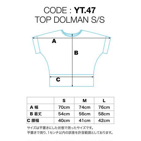 【受注生産】トップドルマン半袖 各種カラー レーヨンスパンデックス薄手 [YT.47RL/L]