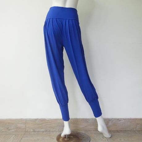 Lサイズ ハーレムパンツ レーヨンスパンデックス薄手 ディープブルー [YP.33RL/L-DEEP BLUE]