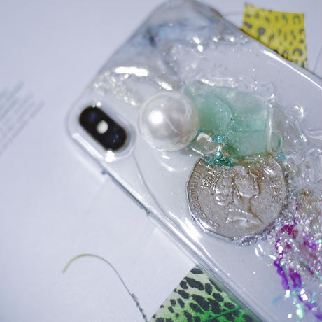 一点物≫ Handmade iPhone ケースX,XS★007