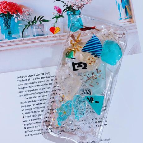 一点物 ≫ Handmade iPhone6,6s ,7★シーグラスケース-003