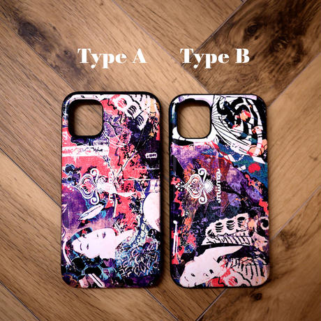 ≫  iPhoneX,XSケース(ミラー付&カード収納&耐衝撃)★Japanese girls/A,B