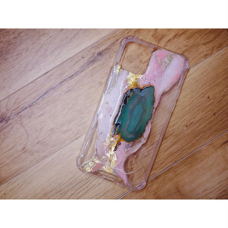 1点物≫ 天然石Handmade iPhone11pro 耐衝撃ケース★2020-001