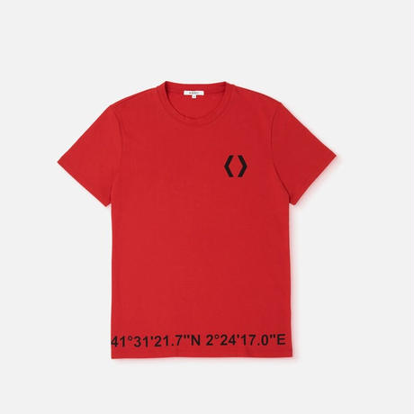 MIKAKUS COORDINATES TEE RED A7