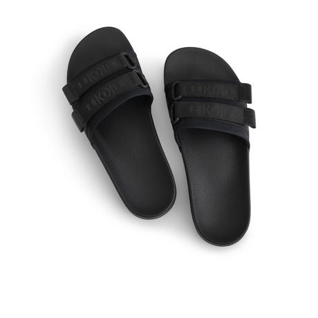 STRAPPED BLACK SLIDES  54